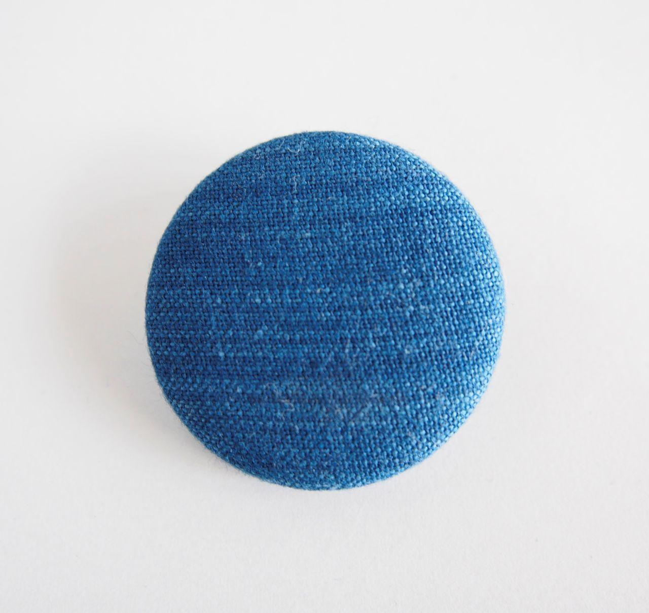 うしじま縫製 | 武州正藍染 バッジ