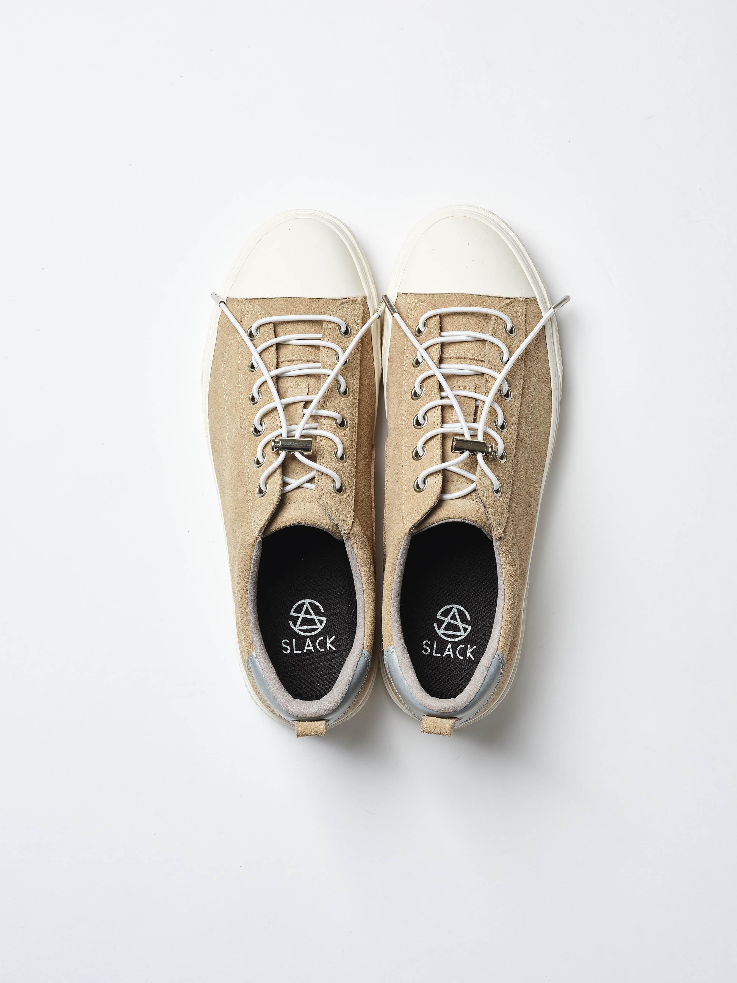 SLACK FOOTWEAR / CLUDE PREMIUM SUEDE(BEIGE/WHITE)