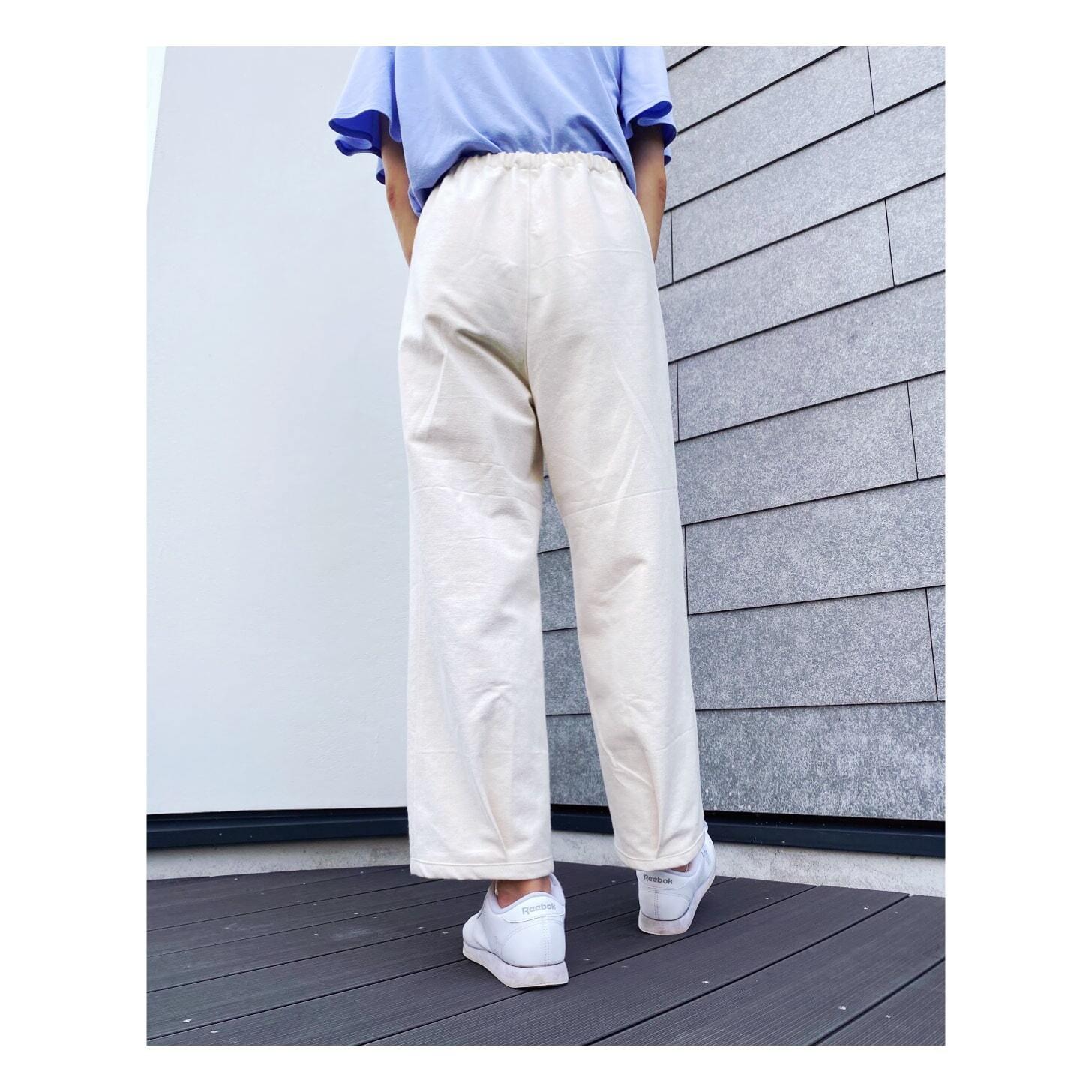 裾タックパンツ型紙7号【DL版/レシピ付き】商用利用可能