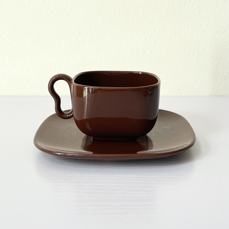 FRANCISCAN フランシスカン USA製 スクエア カップ&ソーサー  ヴィンテージ食器 アンティーク食器
