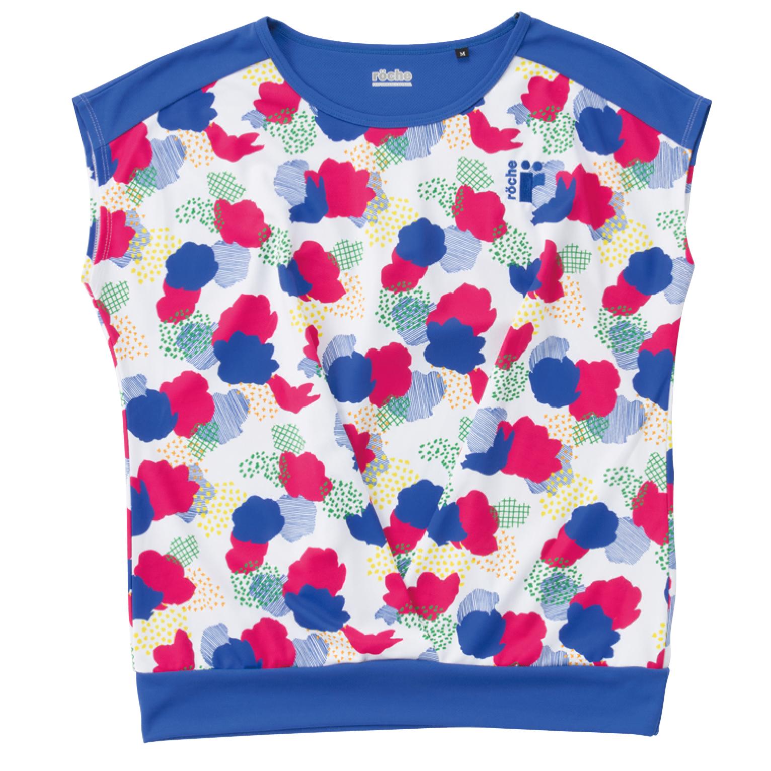レディースゲームシャツ ブルーS【R8S34】
