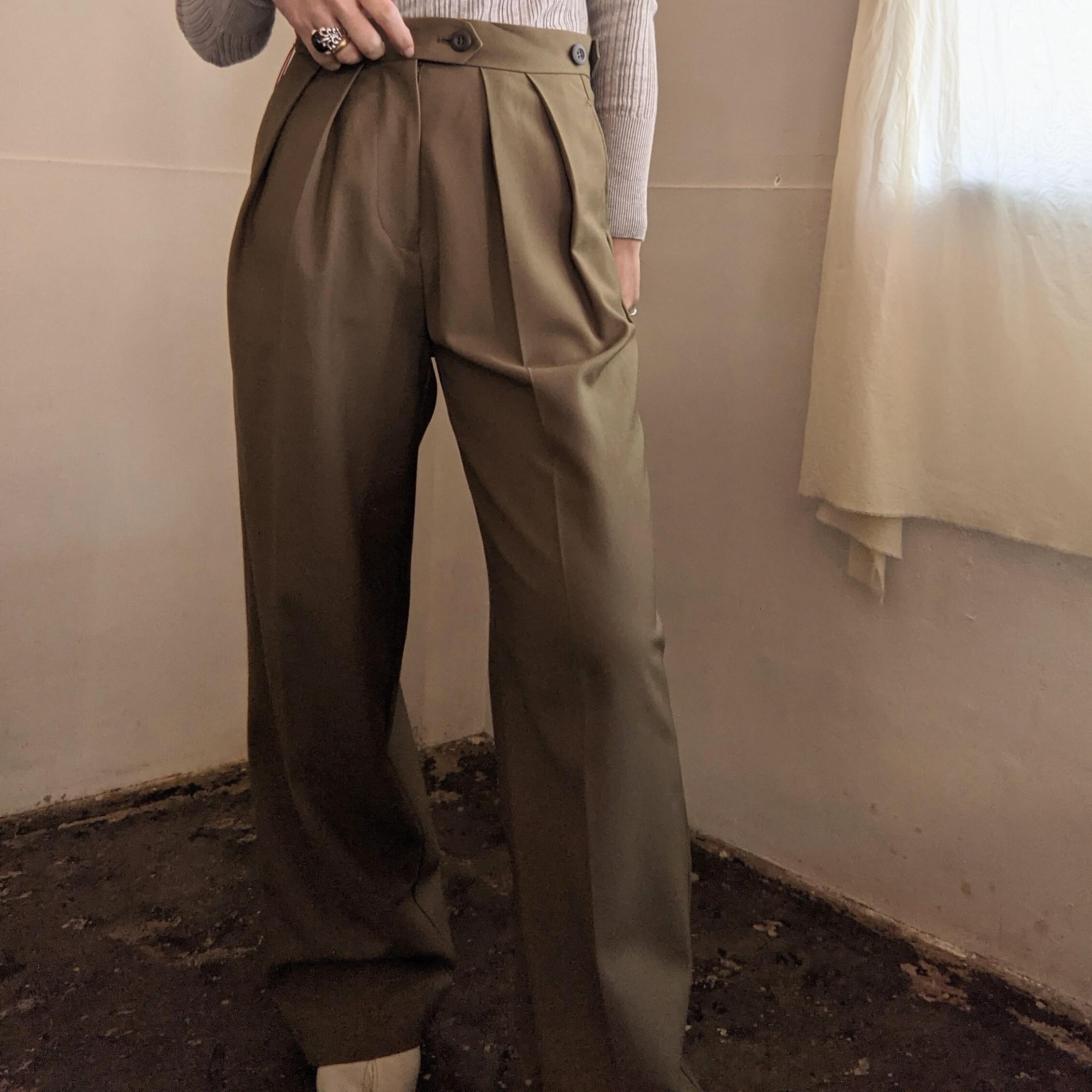 【 M53.】OXFORD WIDE PANTS / COTTON / KHAKI