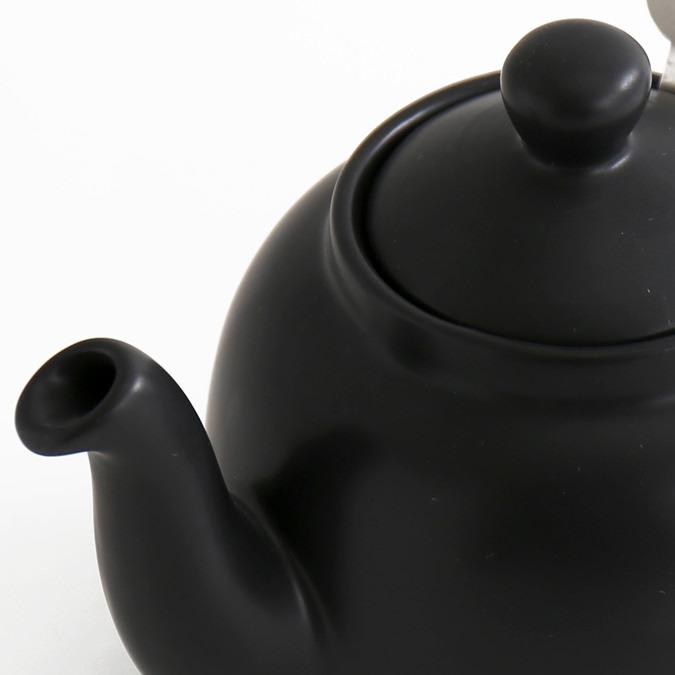 ティーポット 2カップ 550ml マットブラック