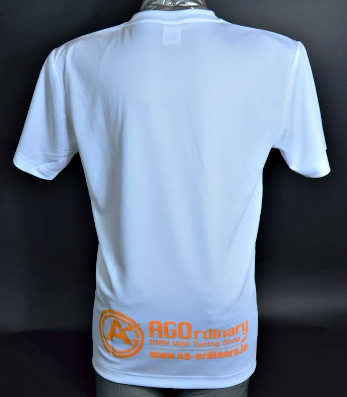 AGOロゴプリント オリジナルドライTシャツ white - 画像2