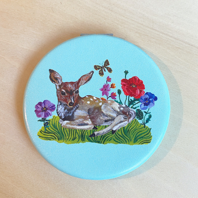 Nathalie Lete Compact Mirror Fawn ナタリーレテ コンパクトミラー