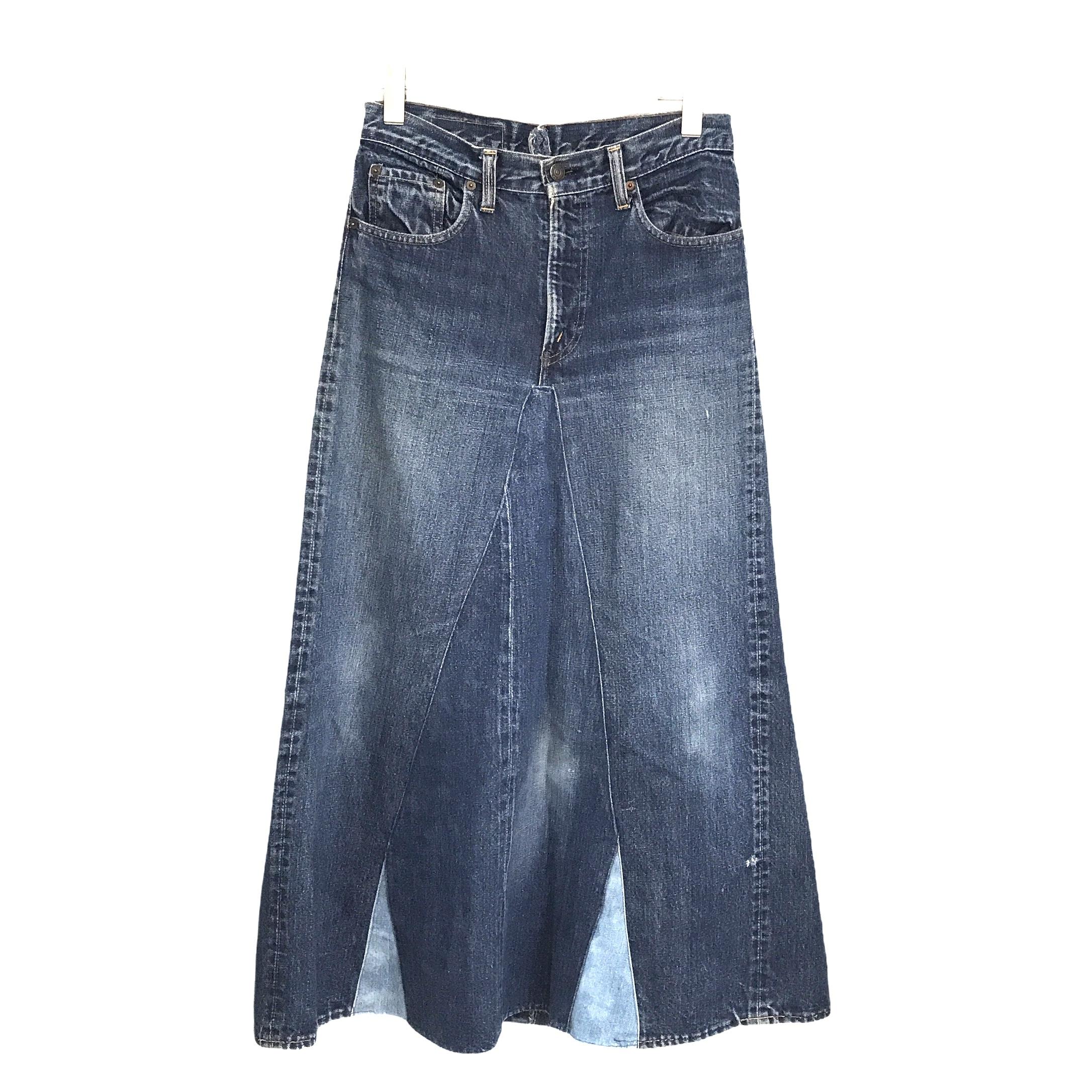 LIOT Vintage Levis Big[E]Patchwork Denim Skirt