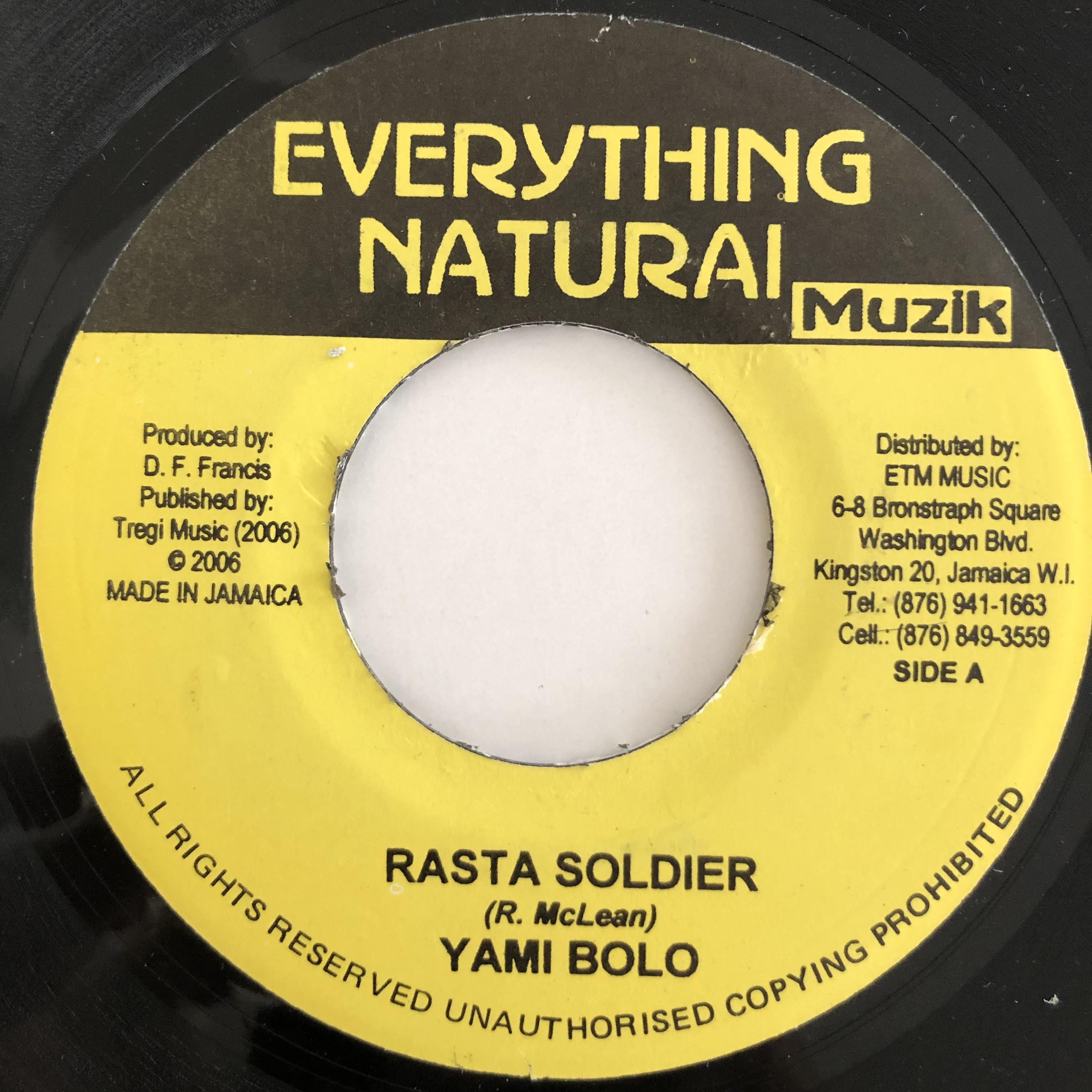 Yami Bolo(ヤミボロ) - Rasta Soldier【7-20117】