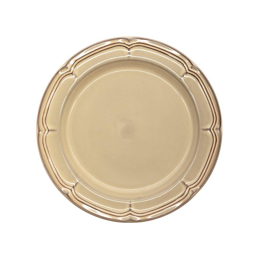 Koyo ラフィネ リムプレート 皿 約21.5cm シナモンベージュ 15922105