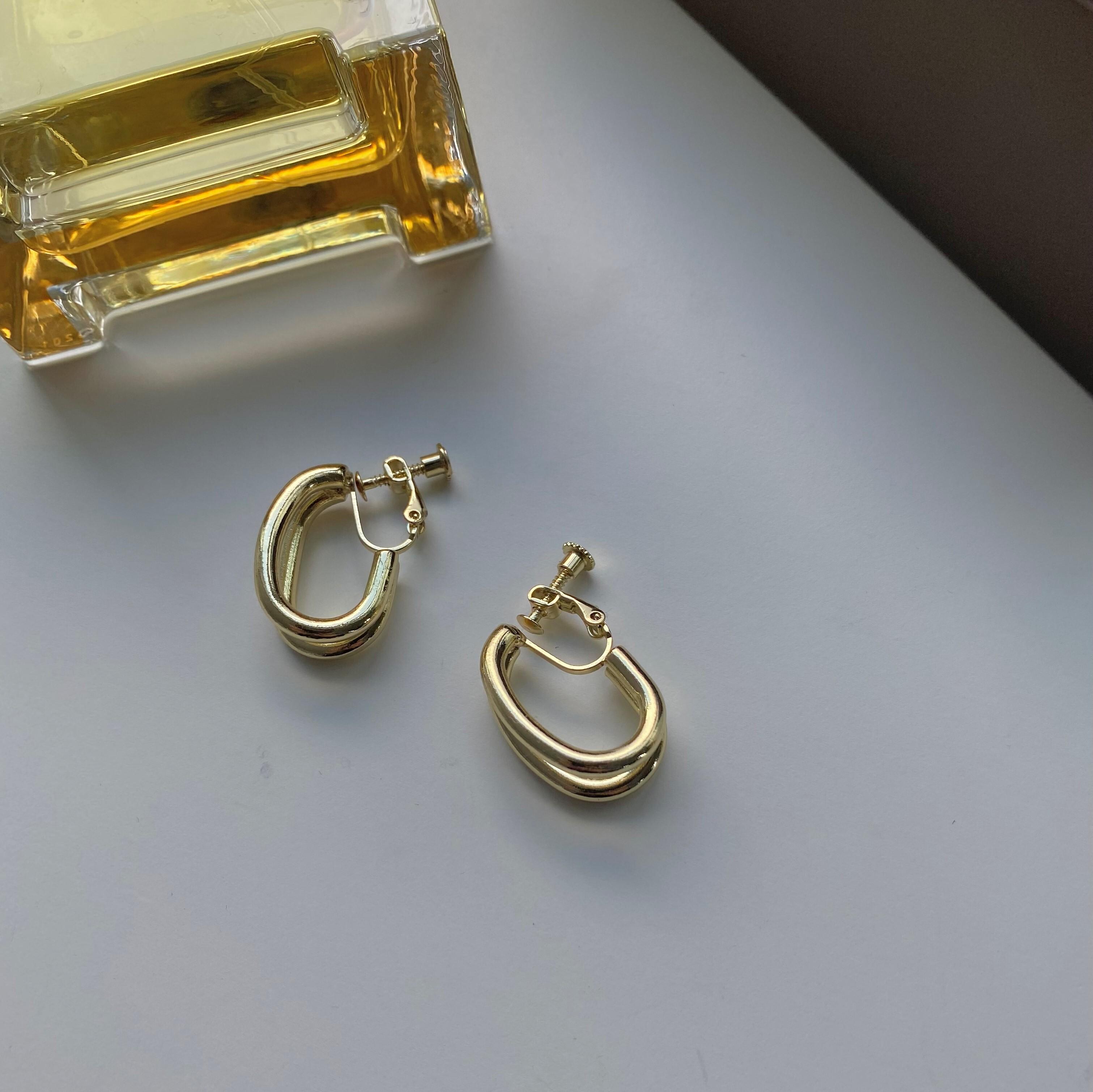 Double hoop earrings/gold