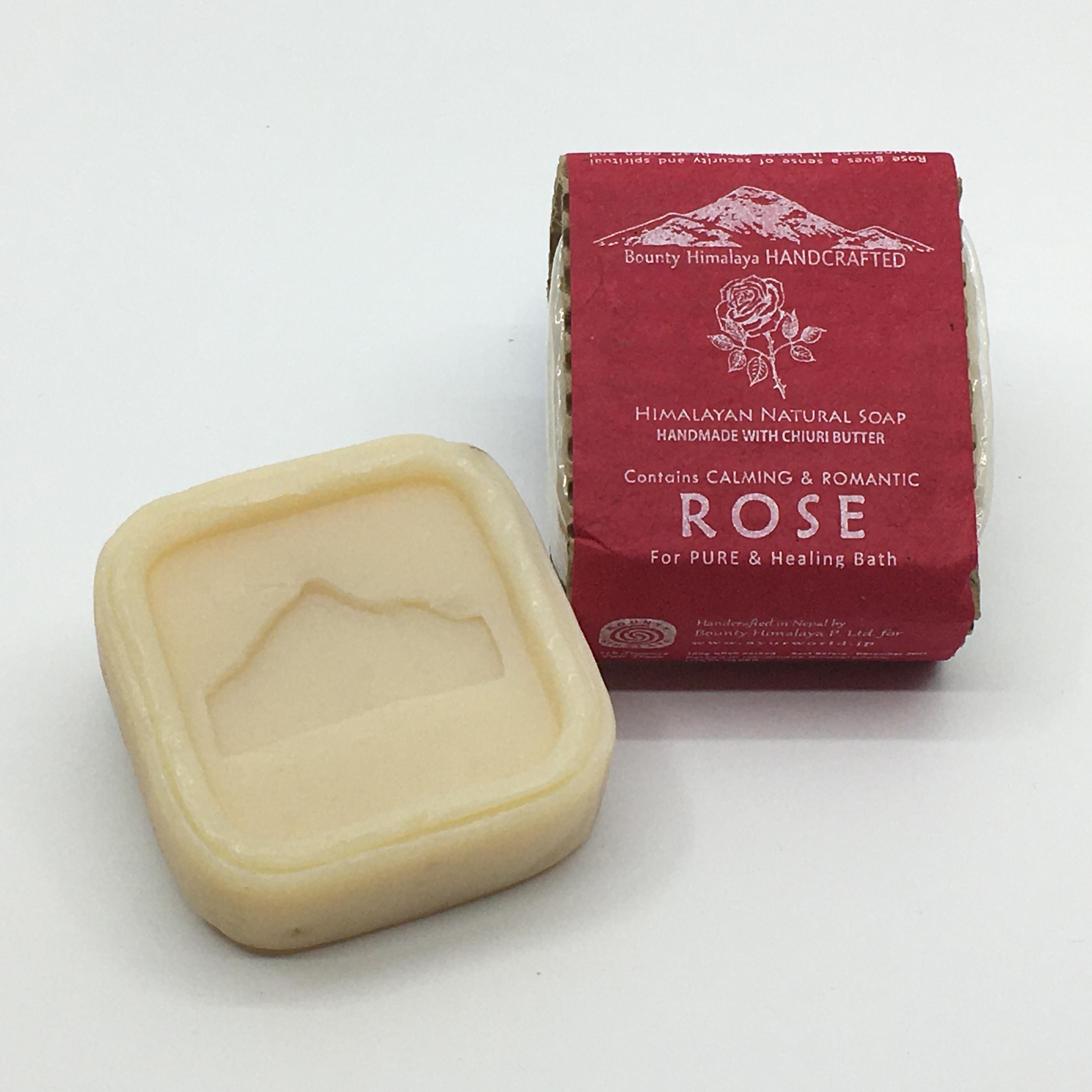 アーユルヴェーダローズソープ〈保湿〉 Bounty Himalaya Rose Soap