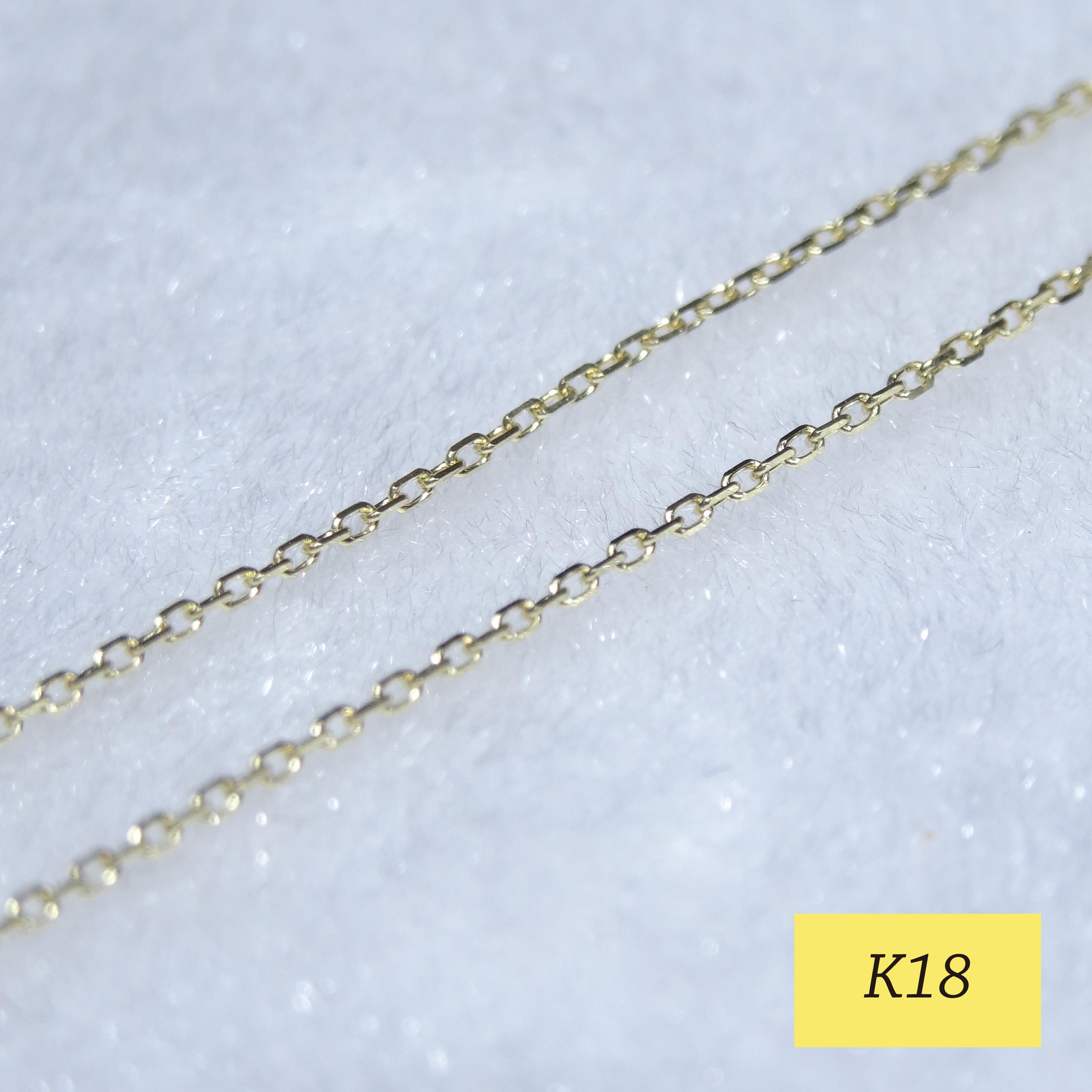 1.0mm幅 K18カットアズキ【00E】
