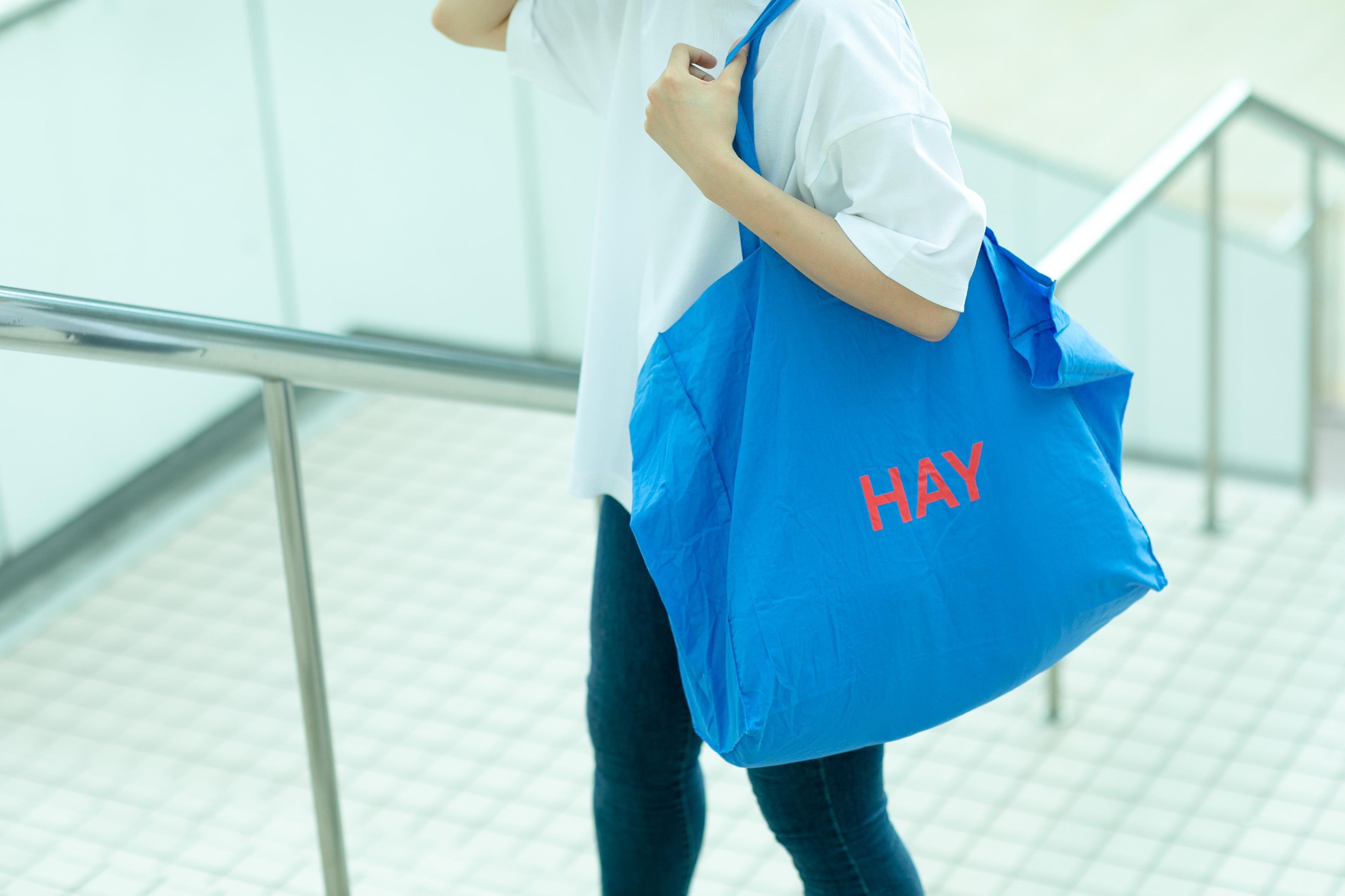 HAY / BLUE TOTE BAG (L)