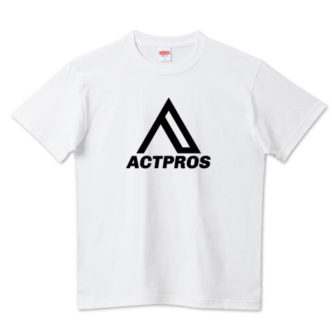 【KID'S】ACTPROS オリジナルロゴ 5.6ハイクオリティーTシャツ(United Athle) ホワイト【9colors】