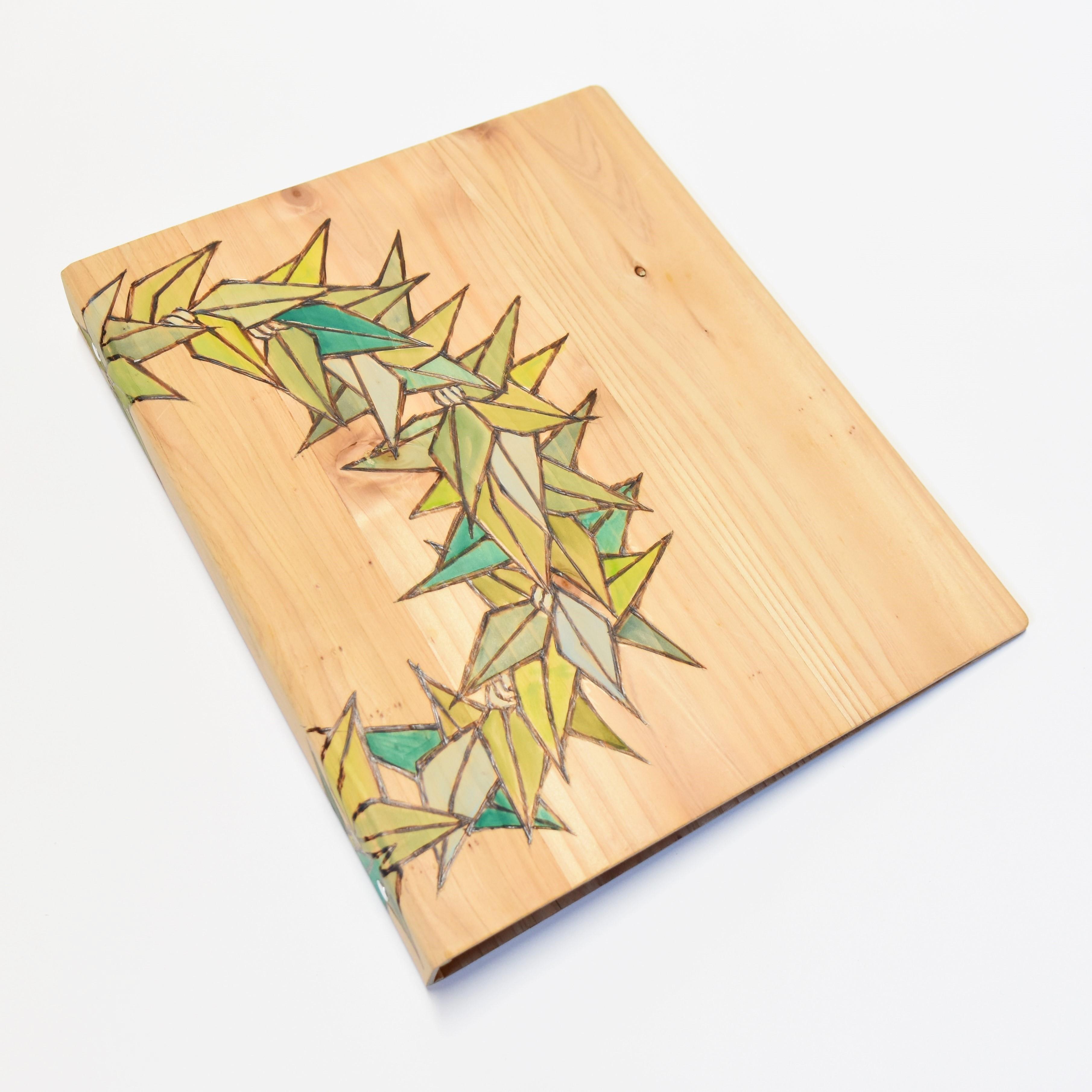 Wood File A4 【Tea Leaf Circle Lei】