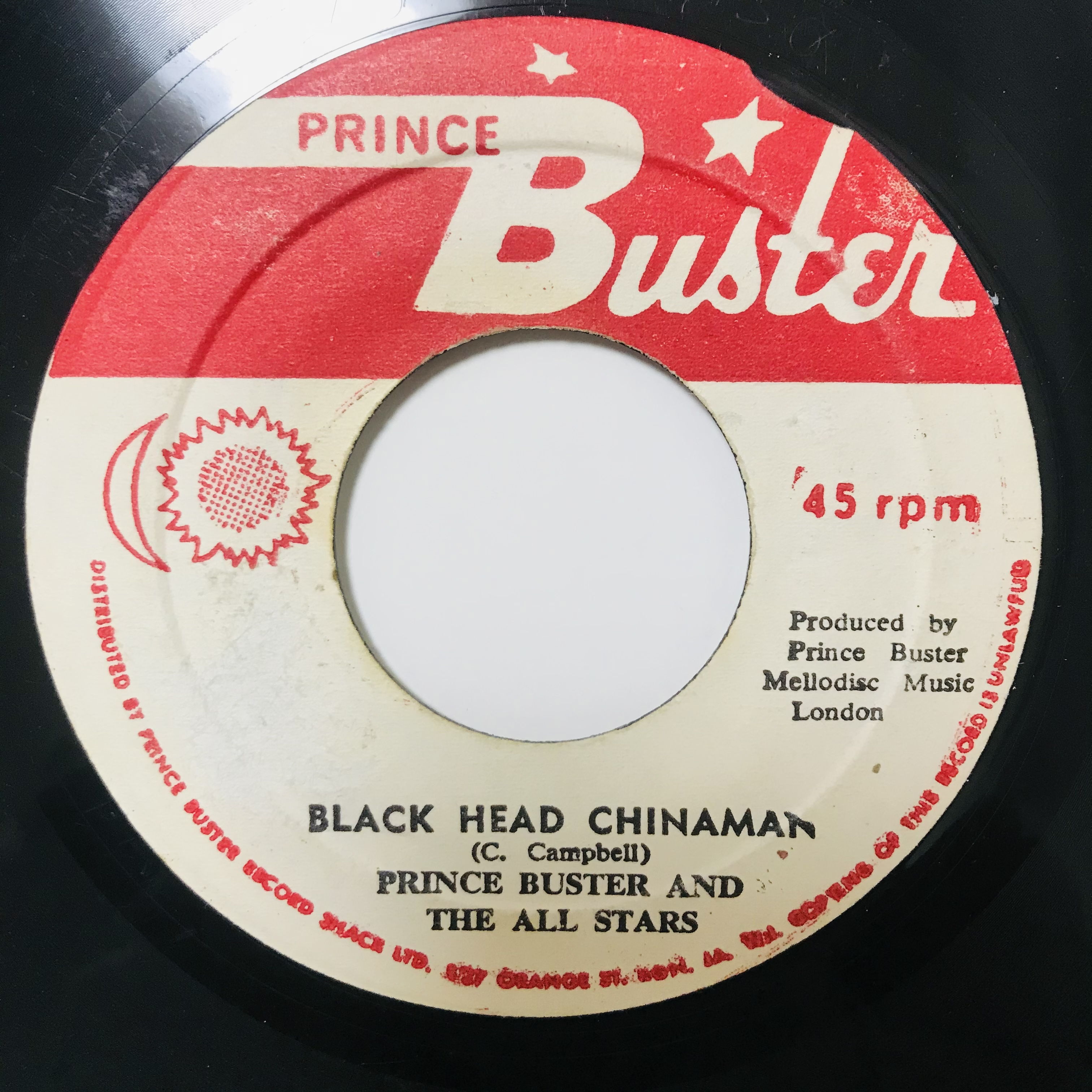 Prince Buster And The All Stars - Black Head Chinaman【7-11000】