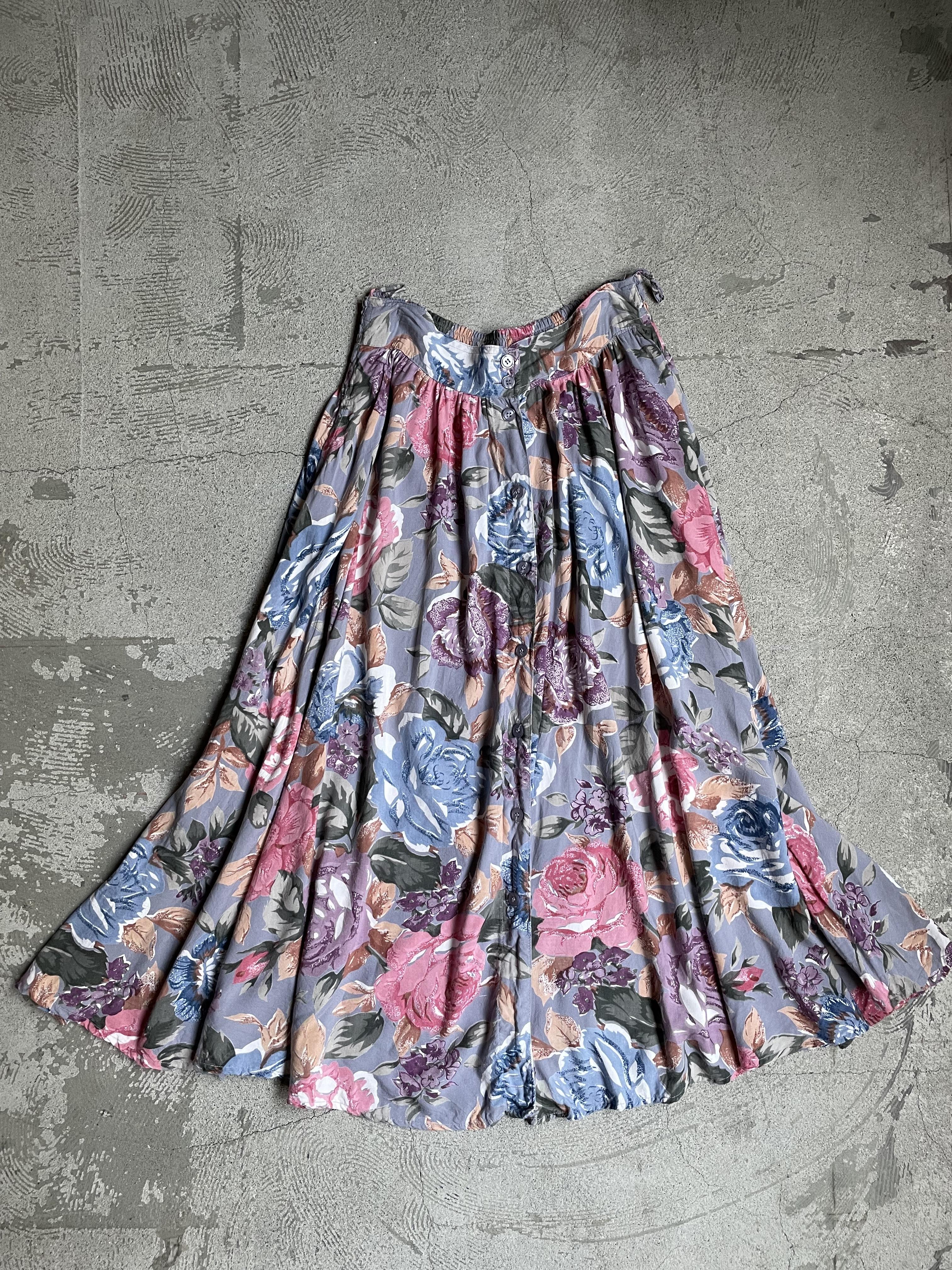 vintage rayon skirt