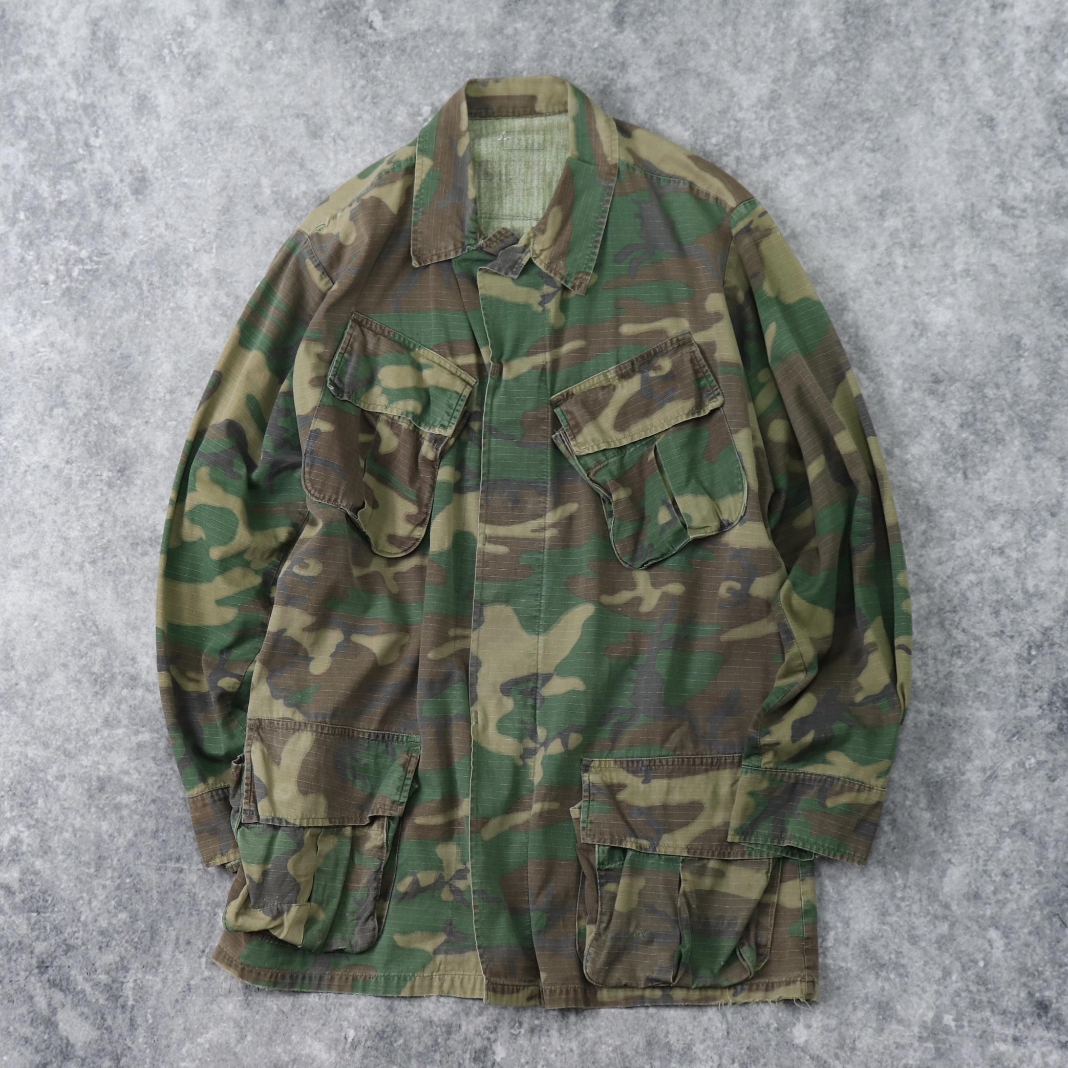70年代 U.S.ARMY ジャングルファテイーグジャケット 迷彩 5th 古着 A799