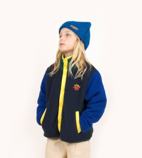 TINYCOTTONS タイニーコットンズ COLOR BLOCK POLAR JACKET size:2Y(95-100)-10Y(130-140)