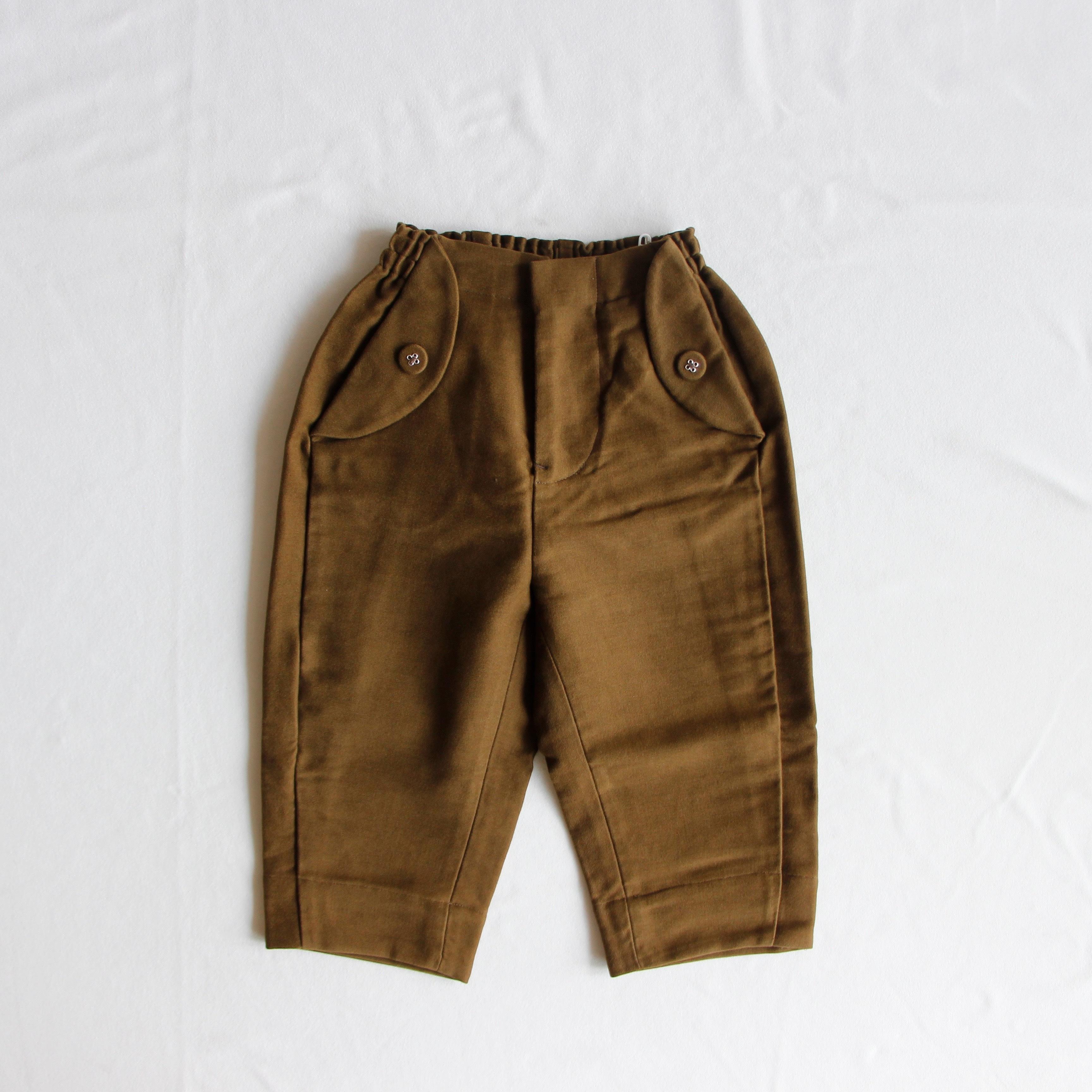 《mina perhonen 2019AW》bonbon パンツ / khaki / 90・100cm