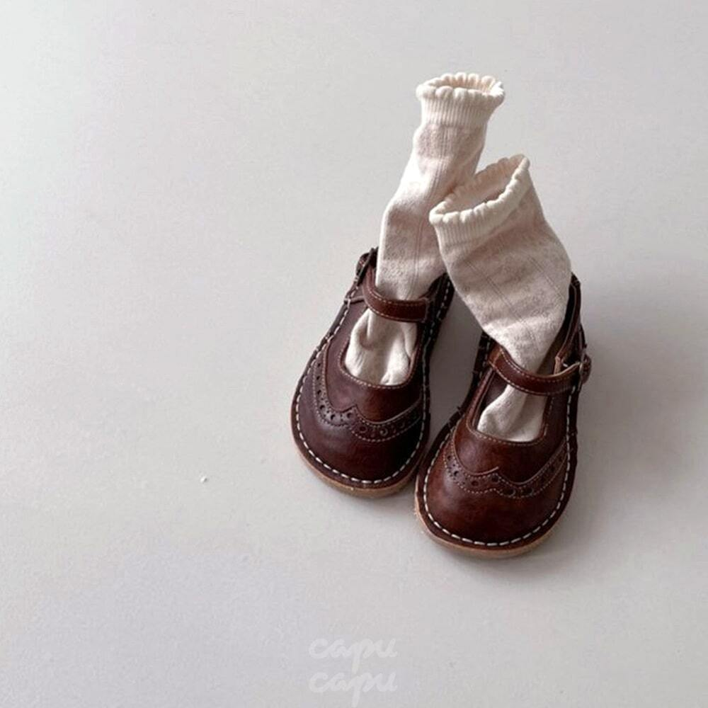 «予約» Classic strap shoes 子供靴 キッズシューズ