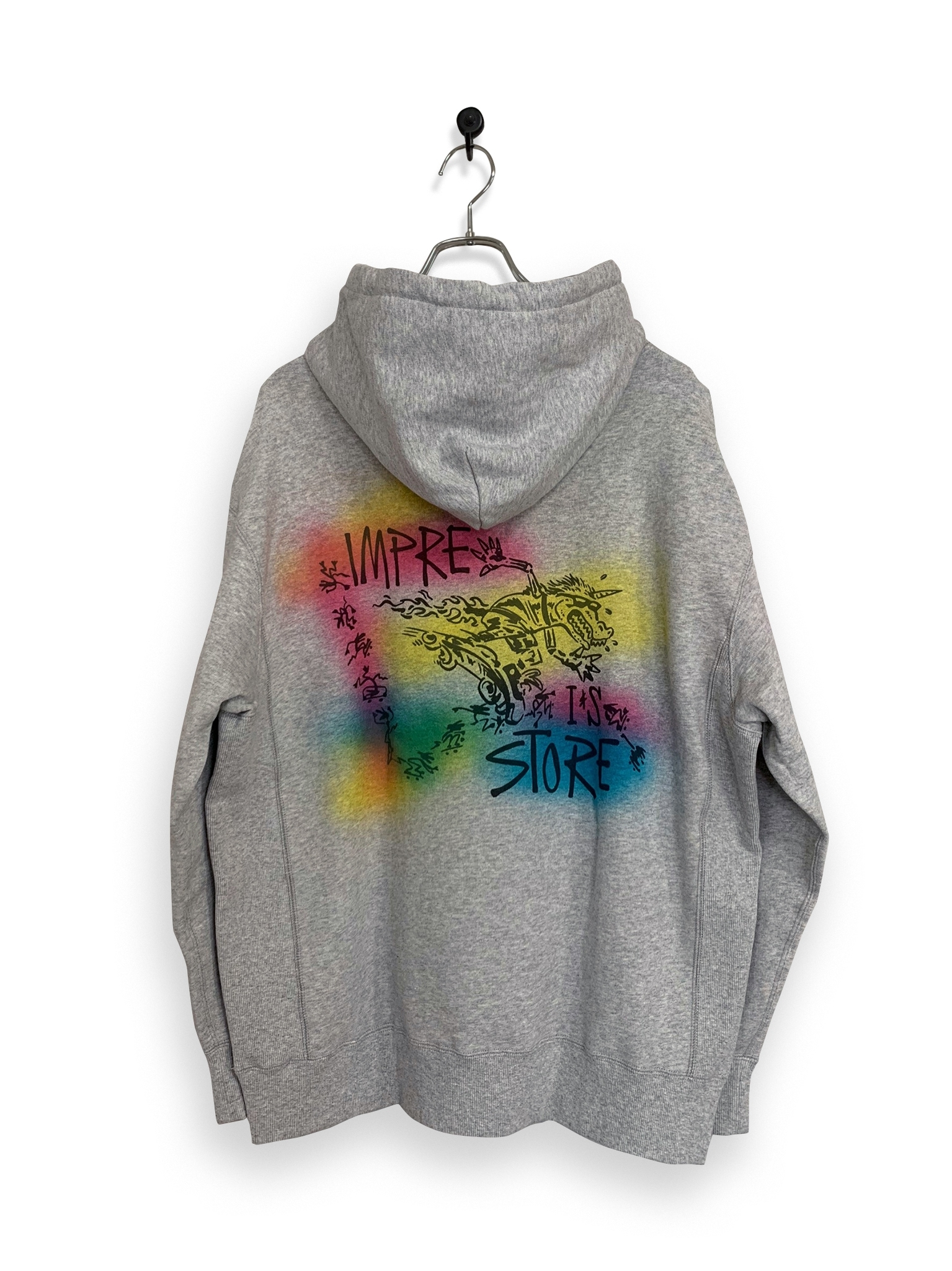 Original Hooded Sweatshirt / air brush / ash gray