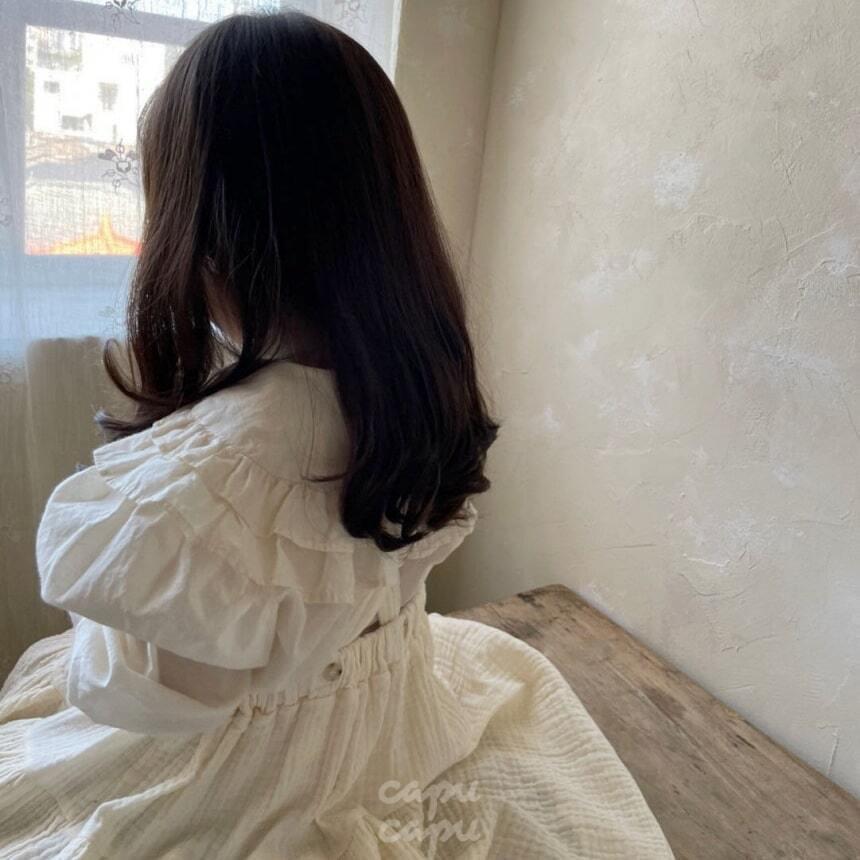 «先行予約割引» monbebe frill blouse 3colors フリル襟ブラウス