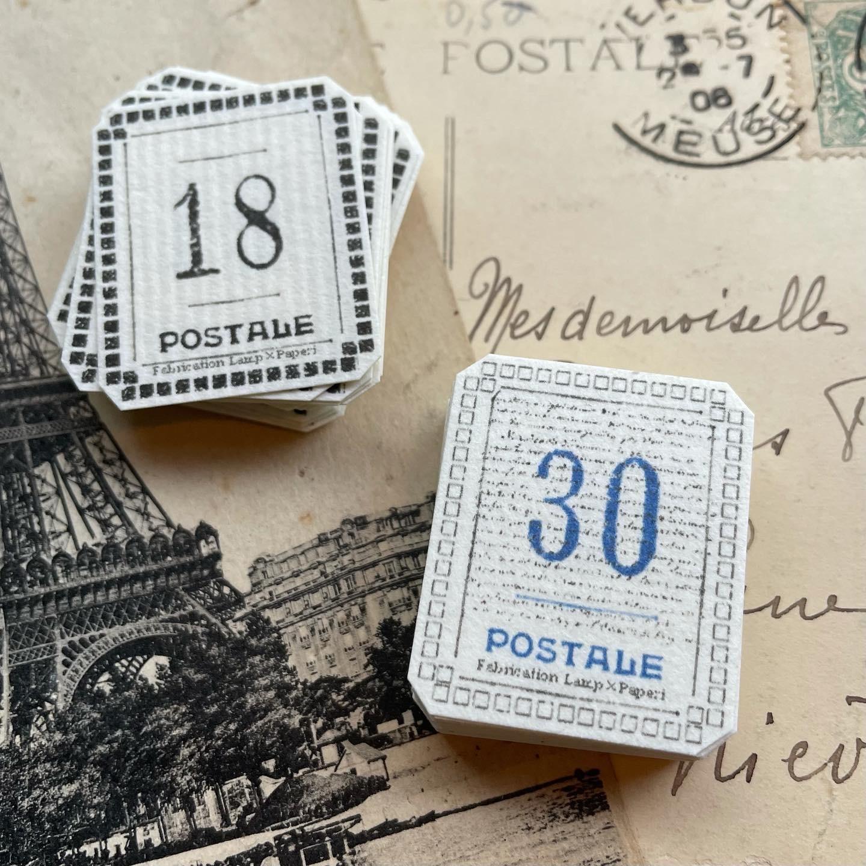 Postale sticker -Number-