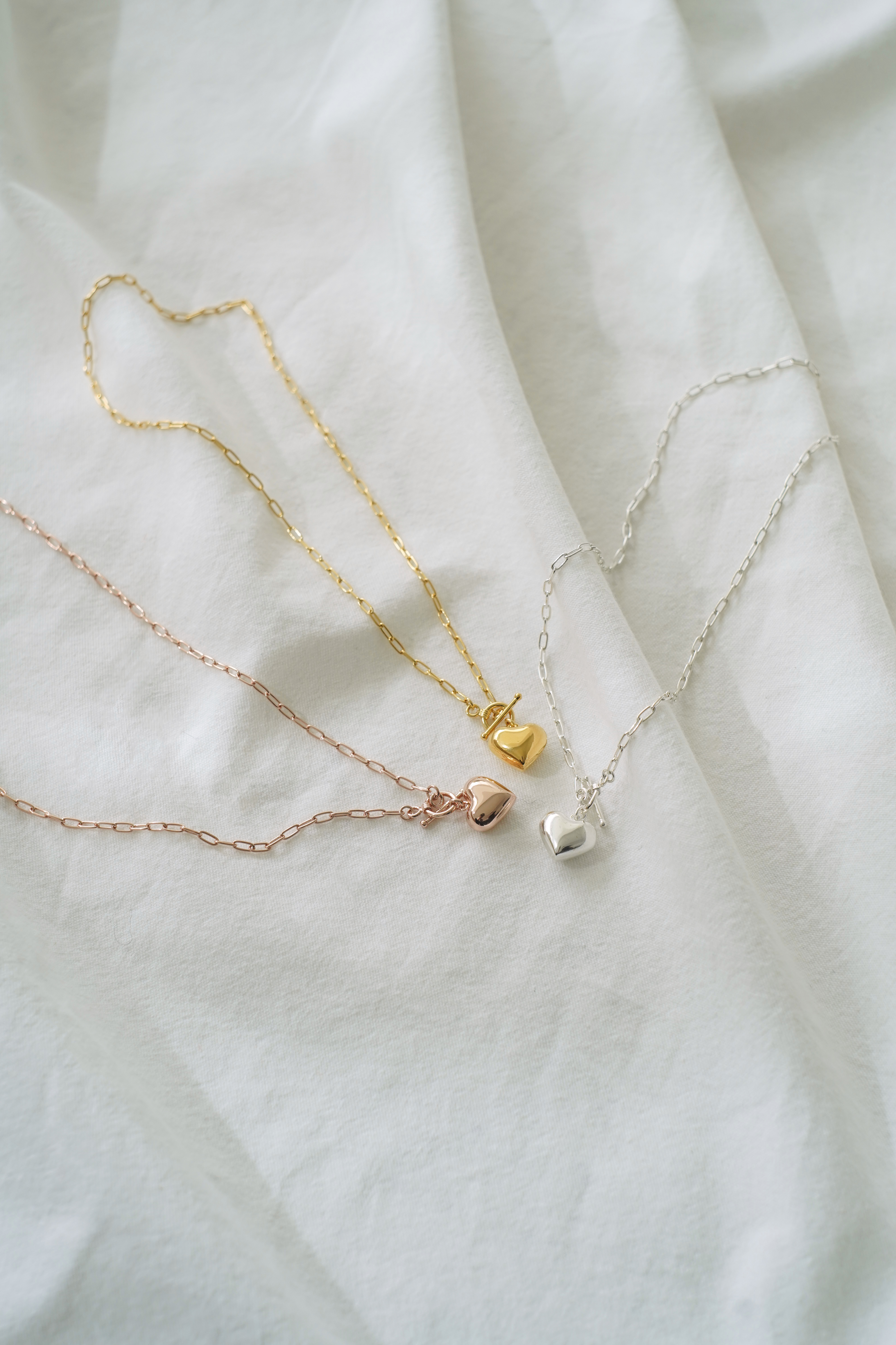 heart chain necklace(5/15L-2)