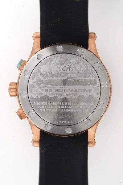 【VOSTOK EUROPE ボストークヨーロッパ】/Anchar Submarine Chronograph Line アンチャールサブマリンクロノグラフ(ブラック×ブロンズ)/正規輸入品