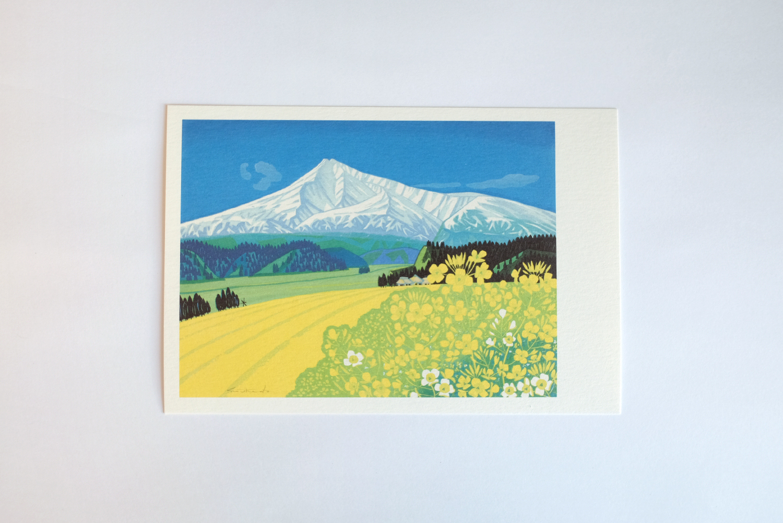 ポストカード(鳥海残雪)