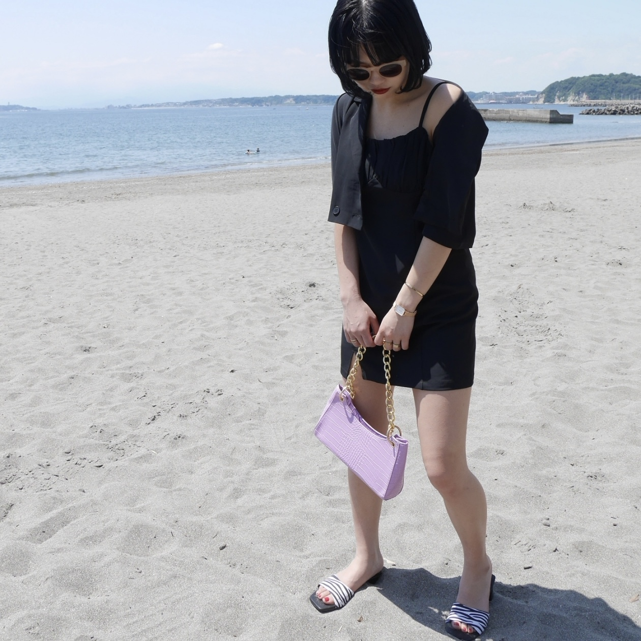 【Belle】chain croco bag