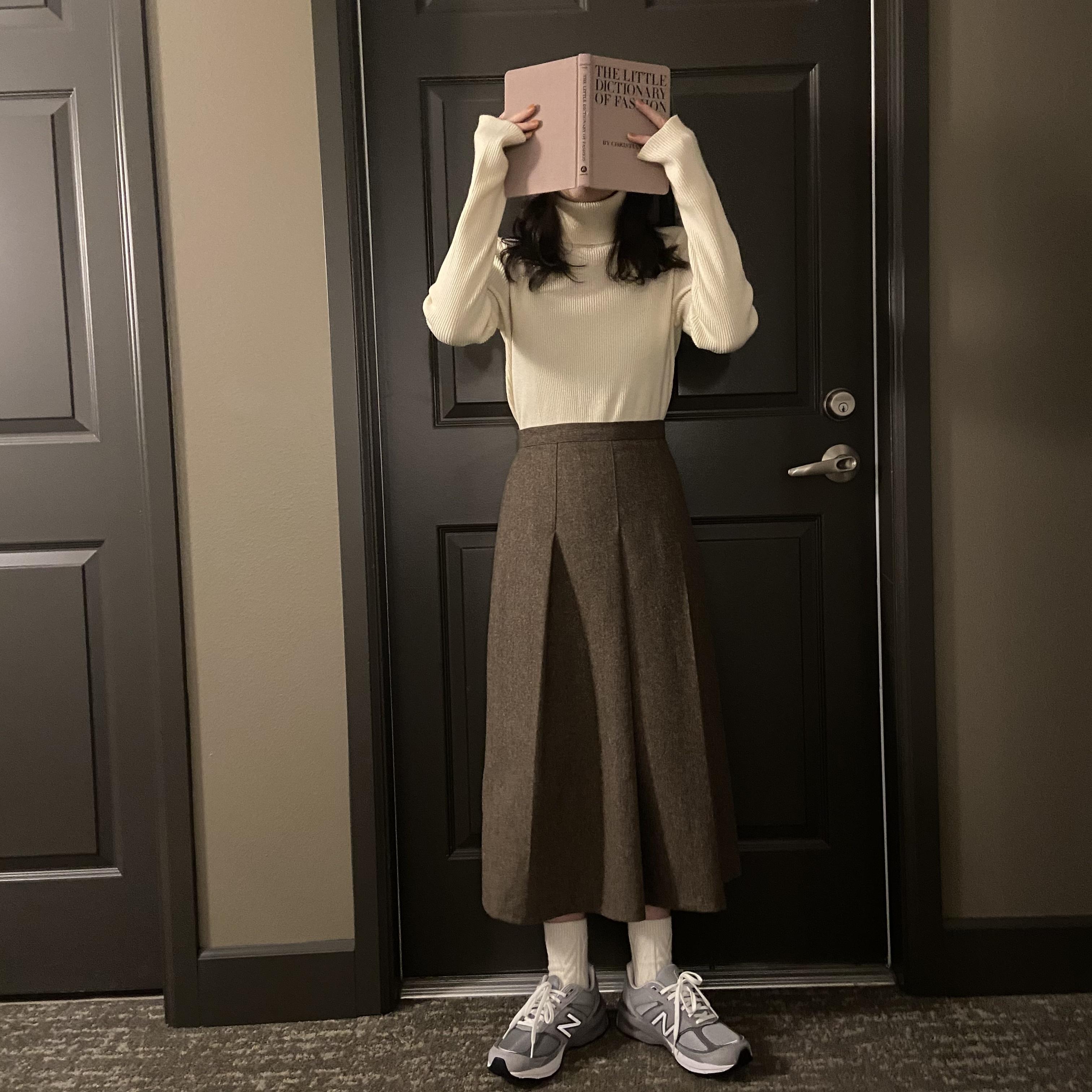 DAYNYC wool pleats skirt
