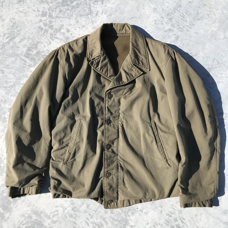 40's U.S.NAVY N-4 フィールドジャケット カーキ USN ステンシル 美品 ミリタリー CONMAR コの字 36~38 希少 ヴィンテージ