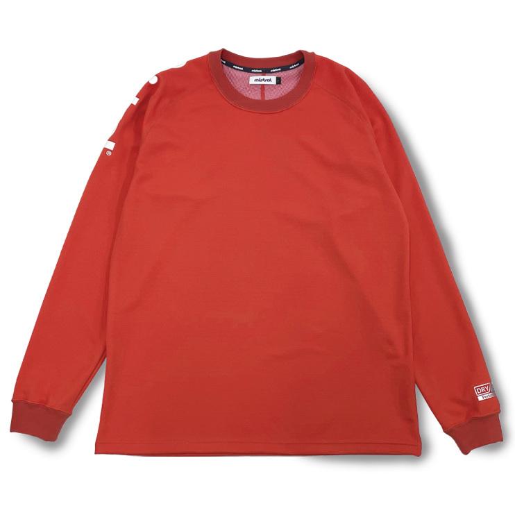 ミストラル ユニセックス [ HP-DRY(ハイドロフォビックドライ) ロングスリーブTシャツ アクティブフィット ] RED