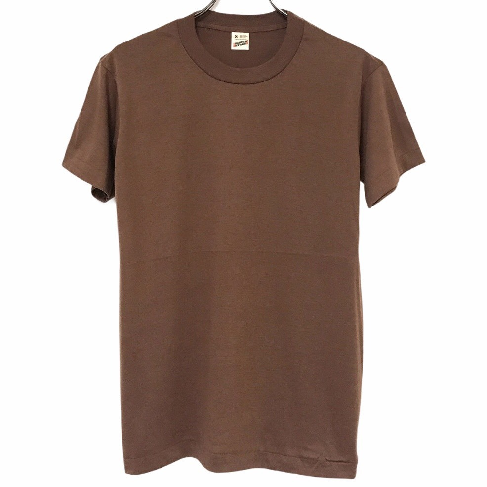 Dead Stock! 80's SCREEN STARS T-shirt made in USA Brown