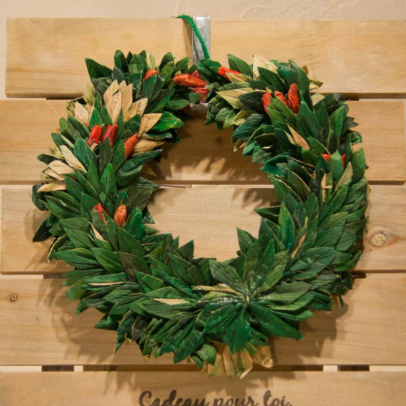 【ピープルツリー】ホテイアオイのクリスマスリース