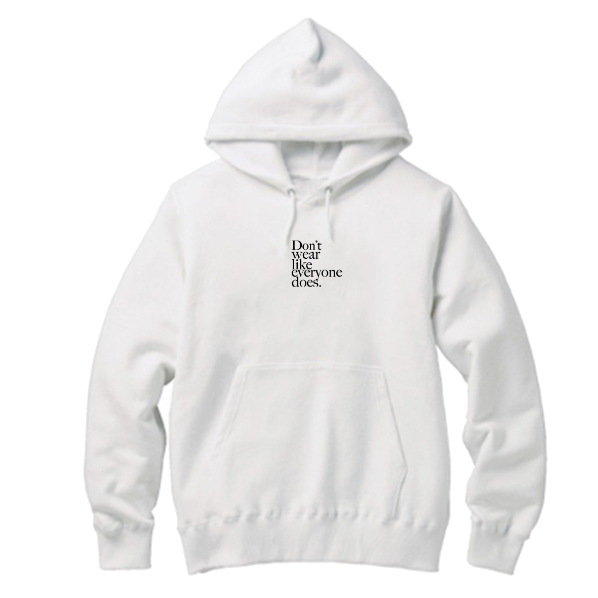 【Cat & Parfum】Don't wear like everyone does. Embroidery Logo Cotton Hoodie