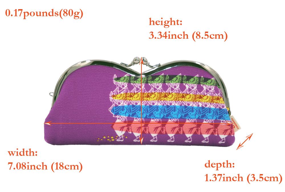 帆布×インクジェットプリント・山型眼鏡ケース・阿波踊り・日本製