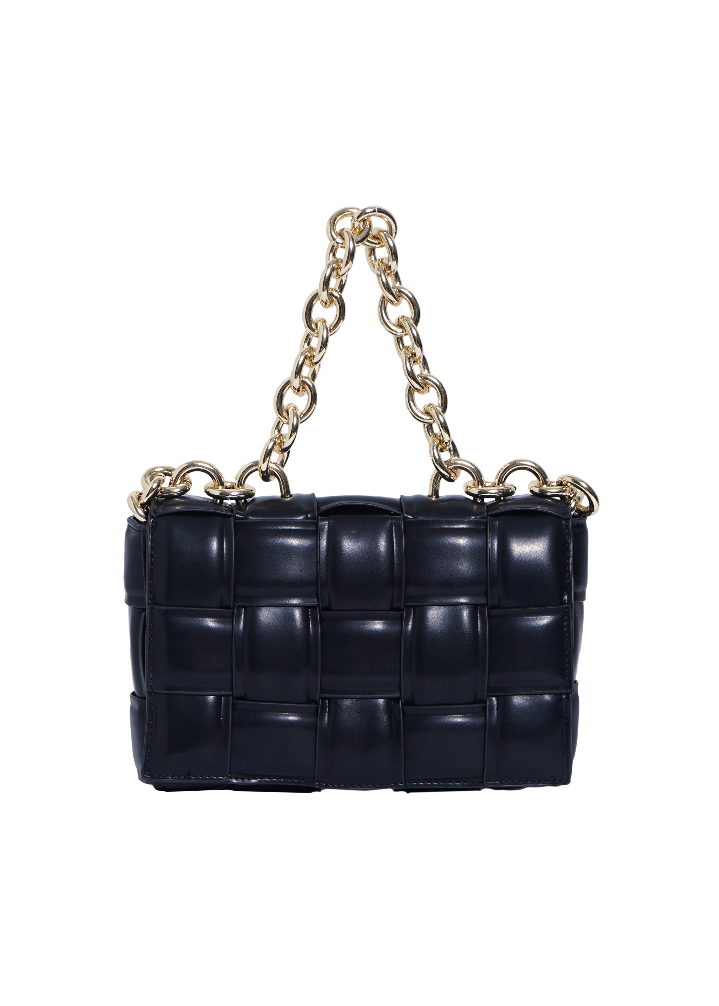 quilting leather chain bag(black)5/10ch-2