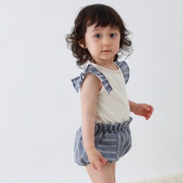 【ベビー服】ふんわりふんわりブルマ / ムスカリ / 70.80サイズ