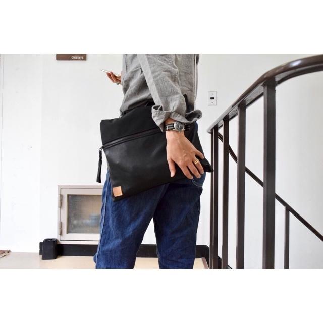 Simva164-0006 Cordura/Leather Pouch L