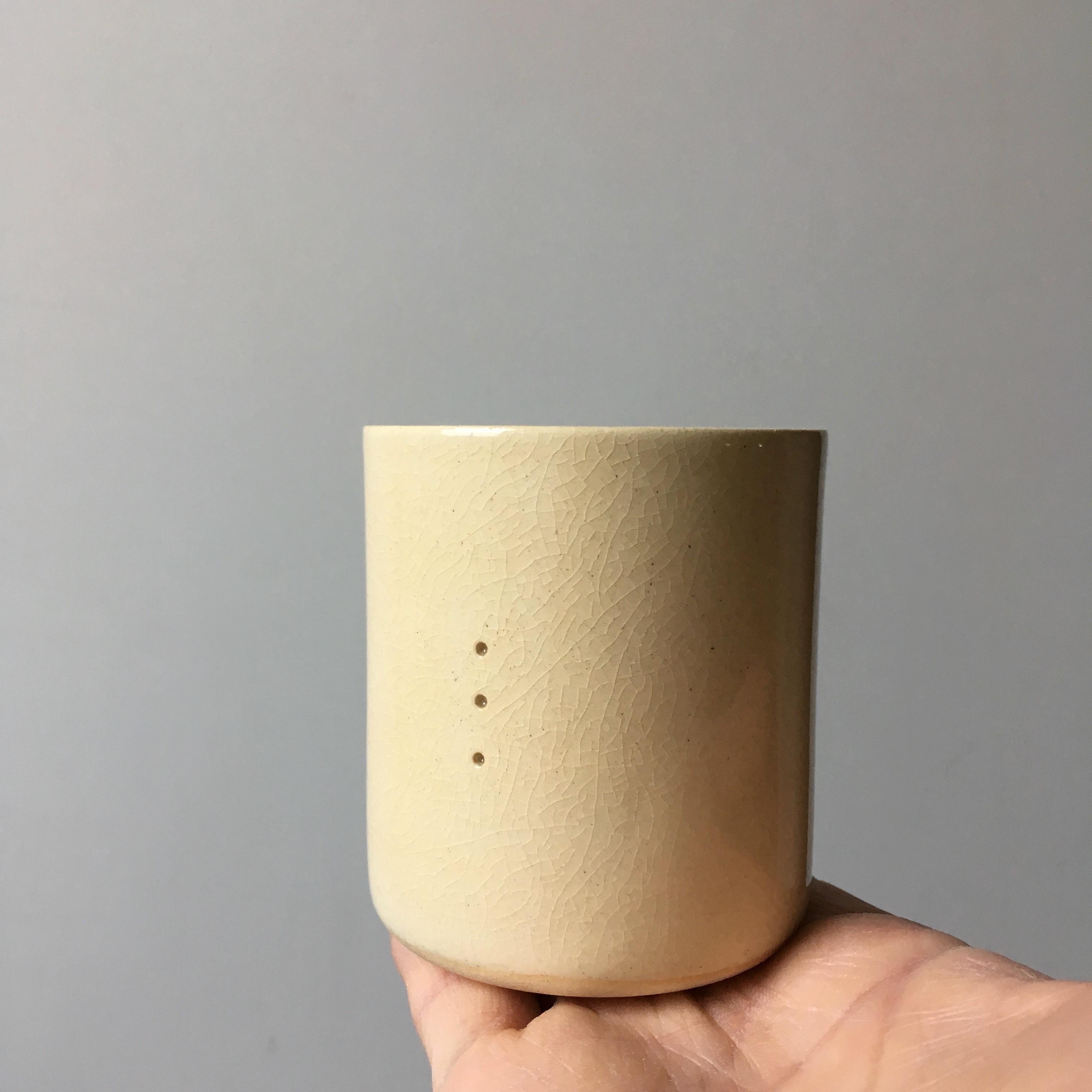 pottery shochu cup 「 t r i 」/  masanori jo