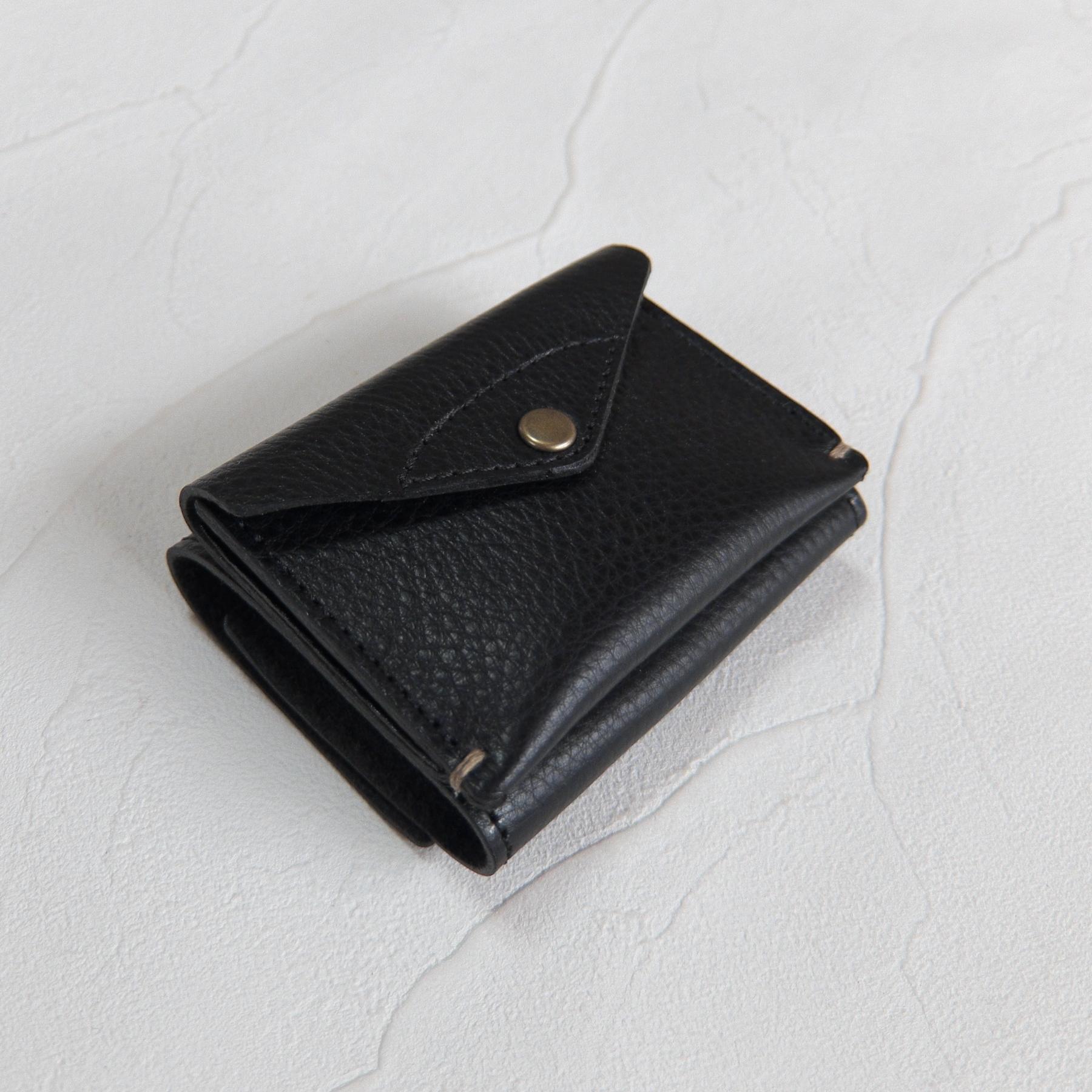 【受注生産】3つ折り財布 Black