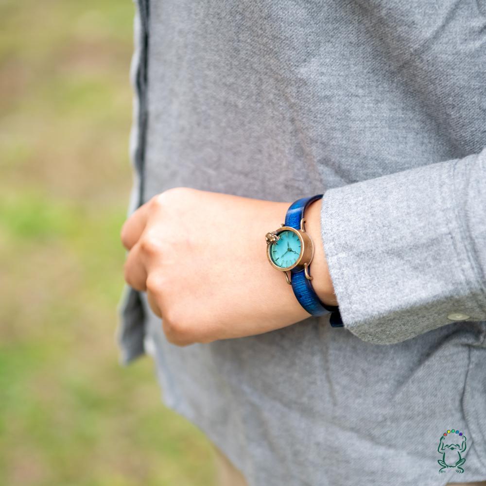 【I様専用ページ】池をのぞく腕時計渋青緑S