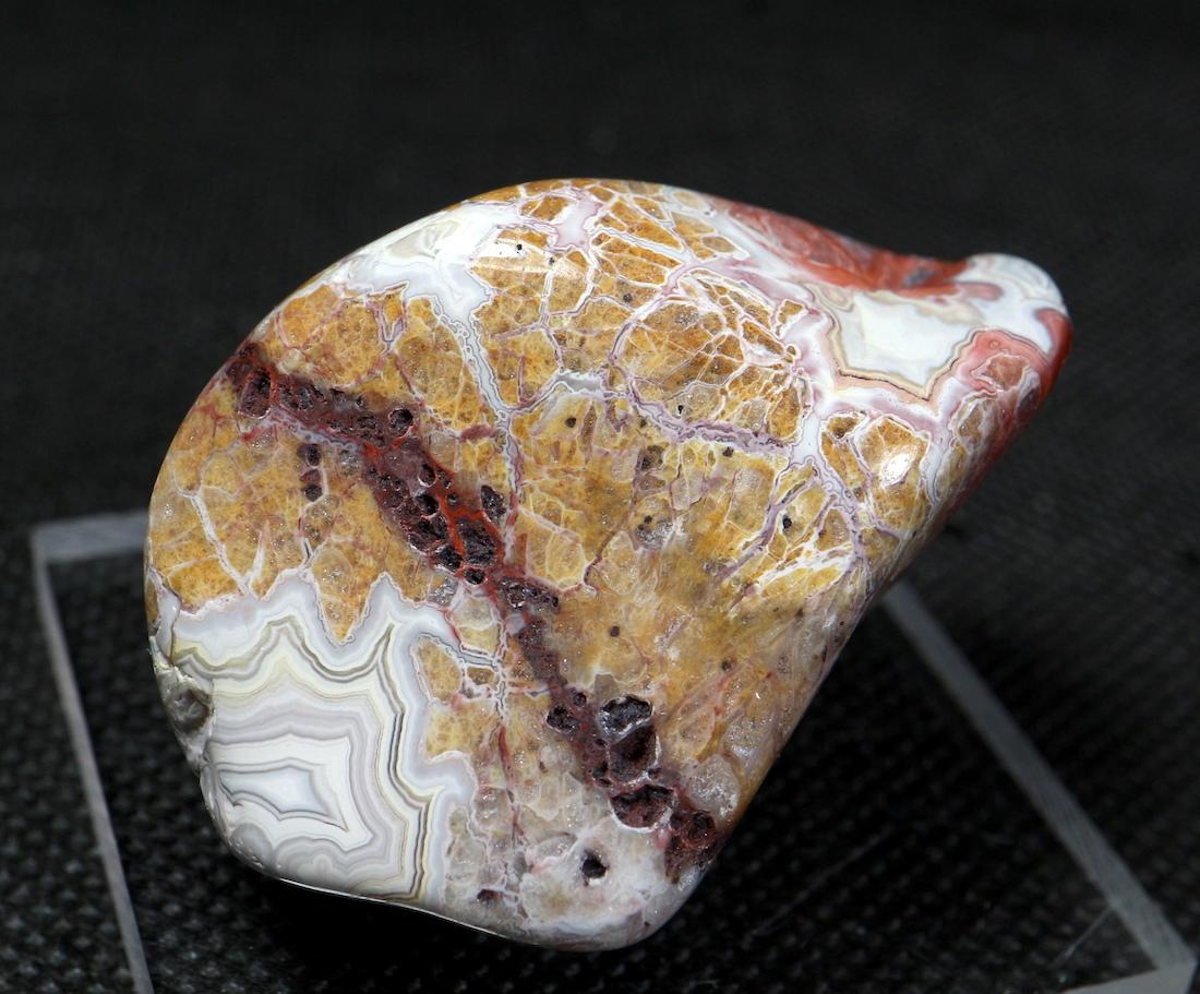 メキシコ クレイジーレース アゲート 39,8g AG117  鉱物 原石 天然石 パワーストーン