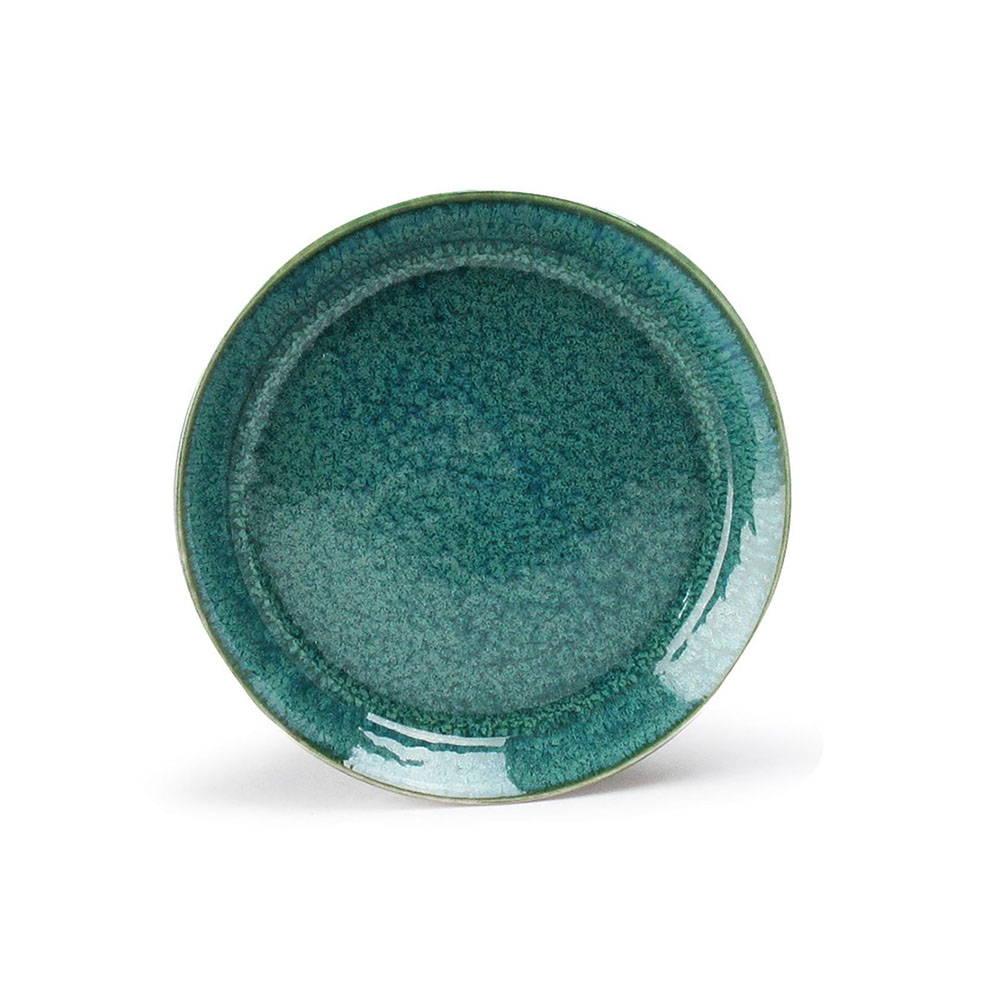 「ナチュラルカラー Natural Color」スタンダード プレート 皿 14cm グリーン 美濃焼 517023