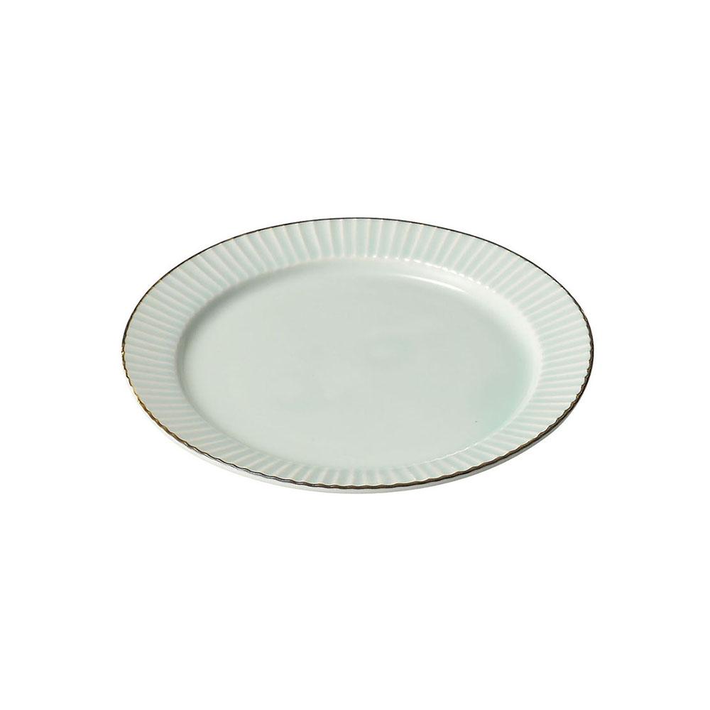 「ティント Tint」プレート 皿 M 約17cm ライトブルー 美濃焼 289007