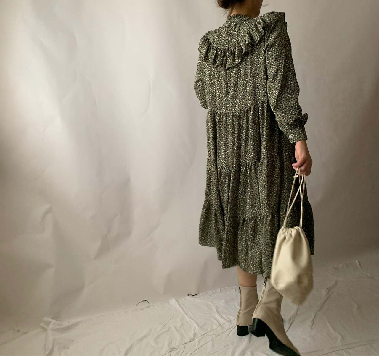 【asyu】rétro frill one-piece