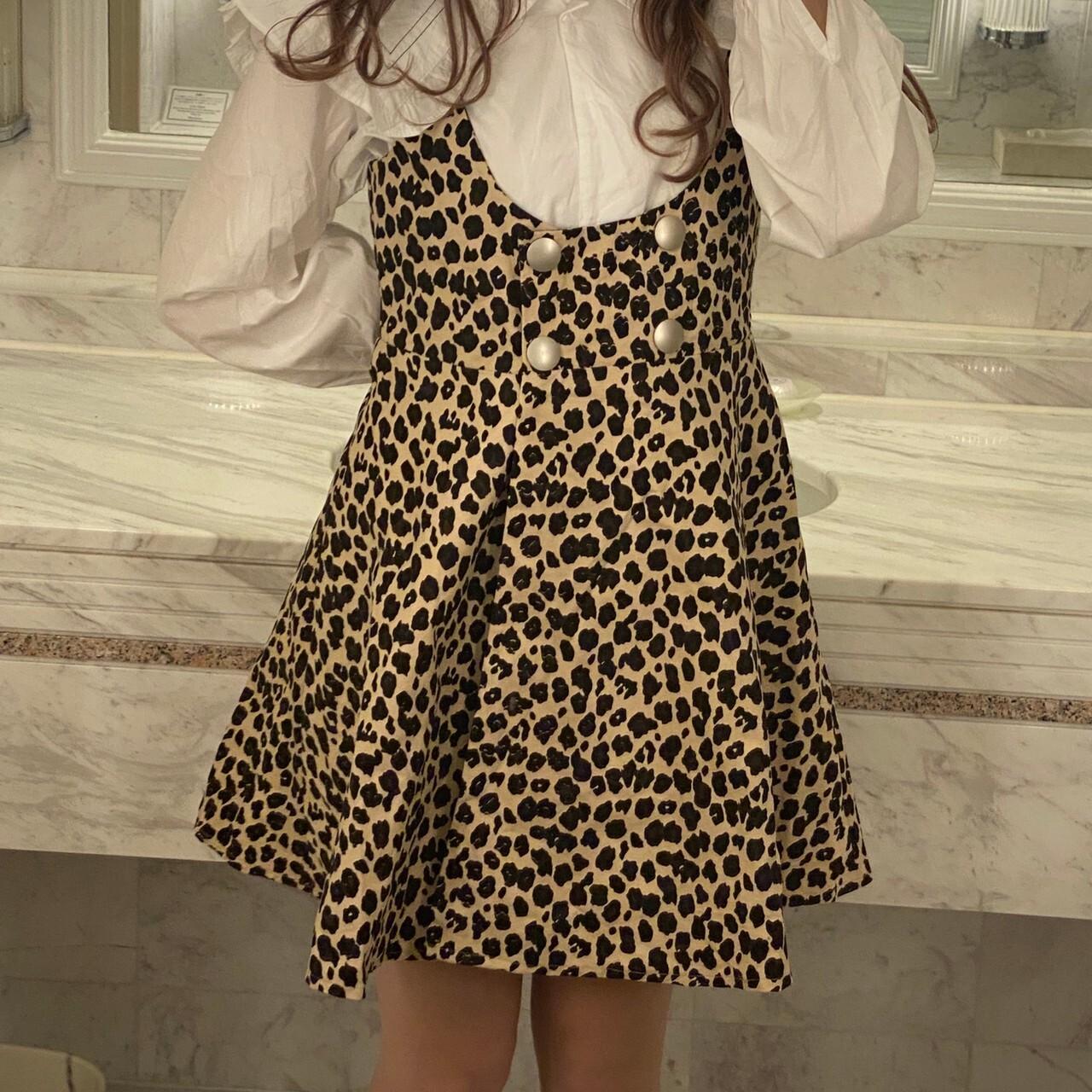 leopard salopette onepiece