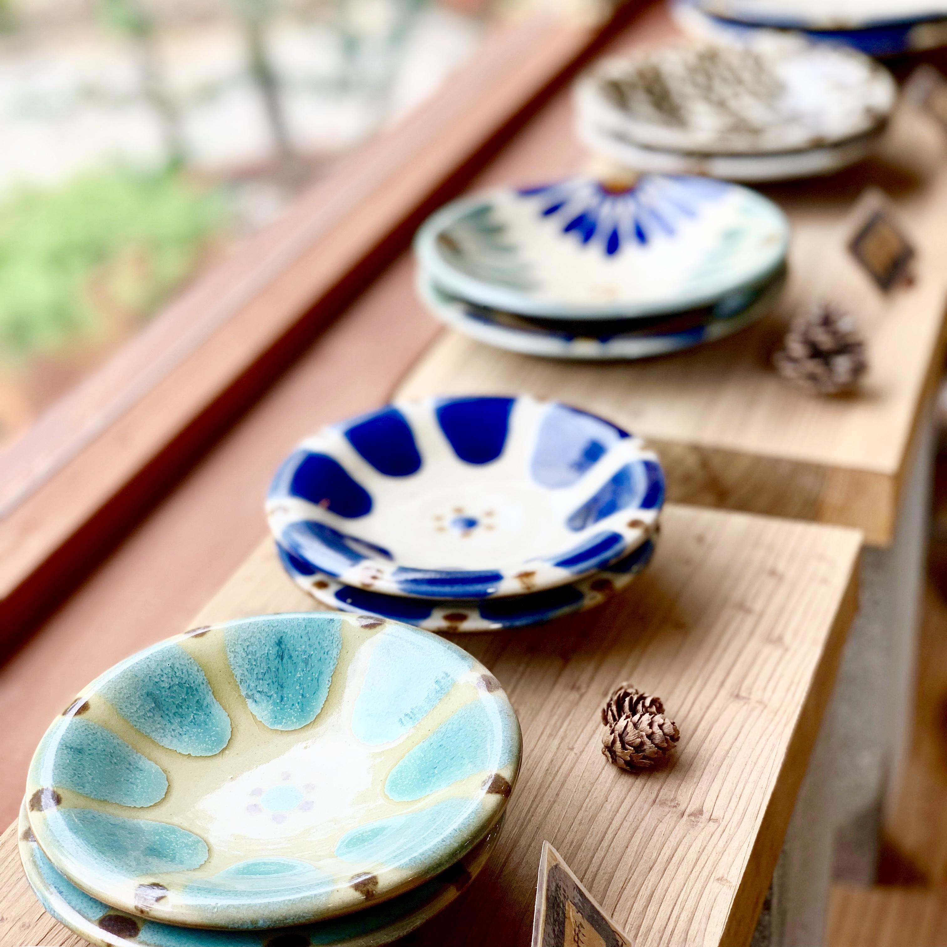 小皿 コバルト チチチャン ノモ陶器